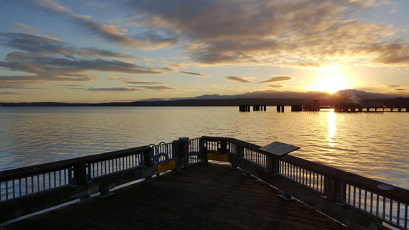 Golden Sunset at Port Townsend, photo by Phani Tathineni.