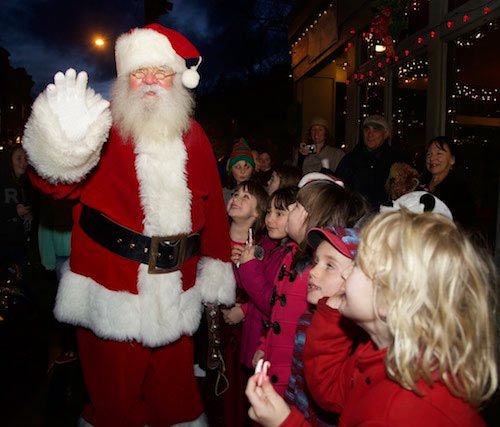 Santa in Port Townsend - photo by Steve Mullensky